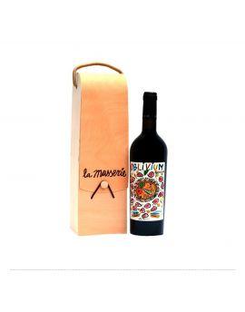 Astuccio in legno 1 bottiglia Oblivium, Casavecchia 2009